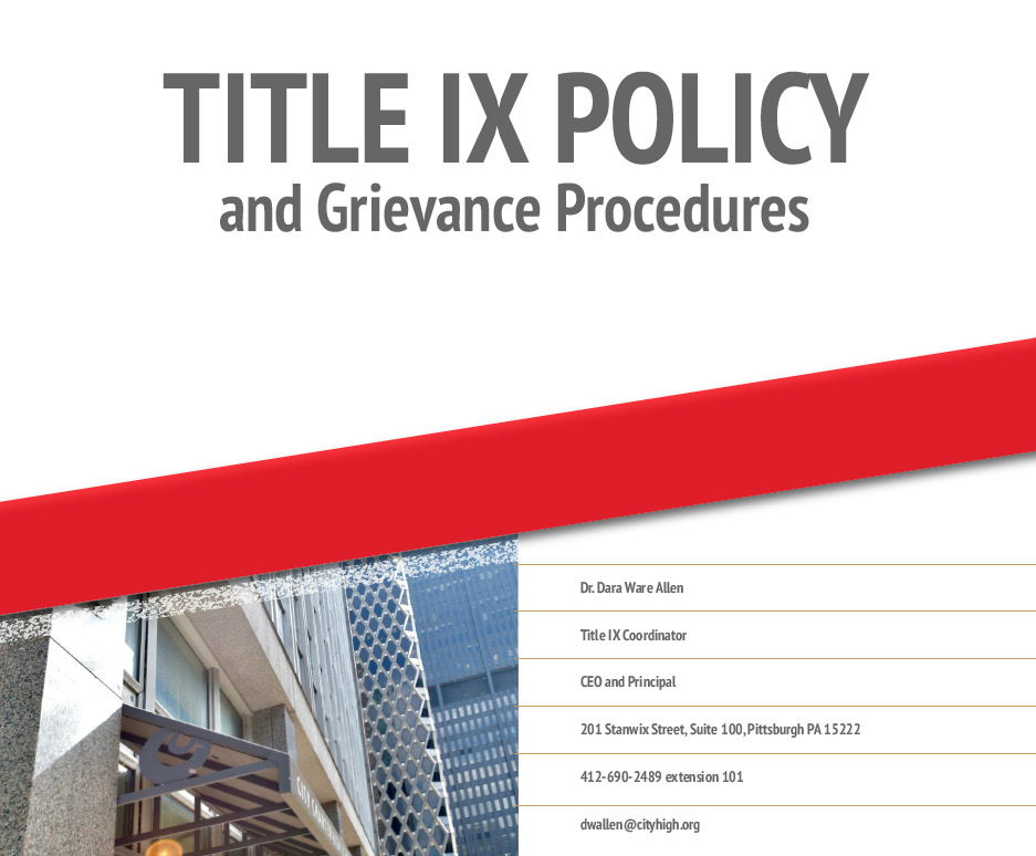Title IX Policy and Grievance Procedures 2020-2021